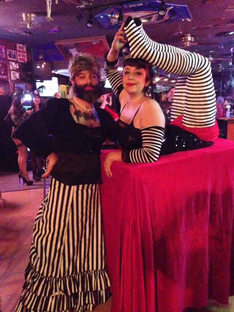 Brandy and Vlad Halloween 2013 - Circus Sideshow: The Bearded Lady and The Contortionist