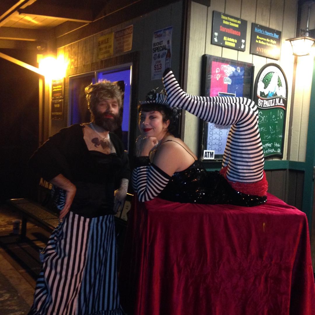 Tag bearded lady for Tattoo freak costume